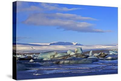 Iceland, Iceland, the South, Breidamerkurjökull, Glacier Ice in the Glacier Lagoon Jökulsarlon-Bernd Rommelt-Stretched Canvas Print