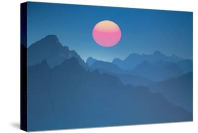 Austria, Lechtal Alps (M)-Ludwig Mallaun-Stretched Canvas Print