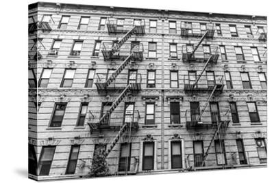 A Fire Escape of an Apartment Building in New York City-kasto-Stretched Canvas Print