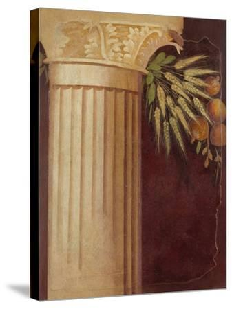 Wall painting fragment from the peristyle of a Villa at Boscoreale, c.50–40 B.C.-Roman Republican Period-Stretched Canvas Print