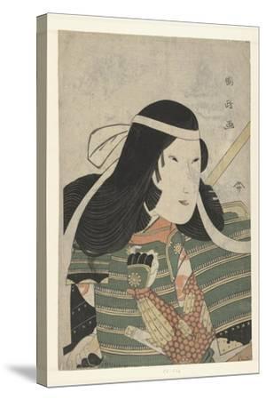 Iwai Kumesaburo as Tomoe Gozen, 1797-Utagawa Kunimasa-Stretched Canvas Print