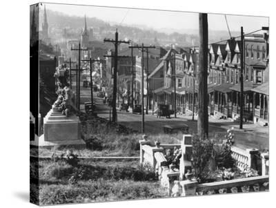 A street in Bethlehem, Pennsylvania, 1935-Walker Evans-Stretched Canvas Print