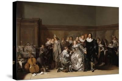 An Elegant Company, 1632-Pieter Codde-Stretched Canvas Print