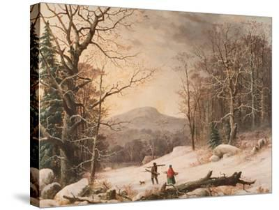 Gathering Wood, 1859-George Henry Durrie-Stretched Canvas Print