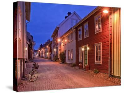 Sweden, Smaland, Old Town with Typical Wooden Houses in Eksjo, Old Towngasse-K. Schlierbach-Stretched Canvas Print