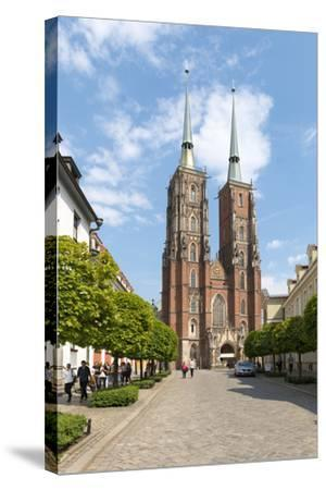 Poland, Wroclaw, Wroclaw Cathedral, Cathedral of St. John the Baptist-Roland T. Frank-Stretched Canvas Print