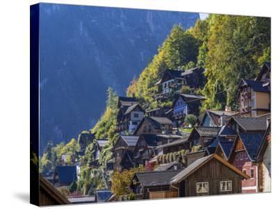 Hallstatt in the Hallstatter Lake, Austria, Europe-P. Widmann-Stretched Canvas Print