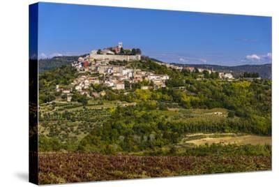 Croatia, Istria, Mirnska Dolina, Motovun, Town View-Udo Siebig-Stretched Canvas Print