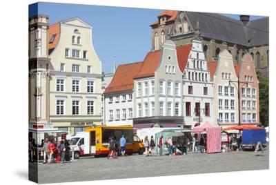 Europe, Germany, Historical Gabled Houses-Torsten Kruger-Stretched Canvas Print