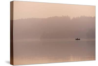 Angler in the Fog-Benjamin Engler-Stretched Canvas Print