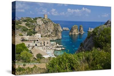 Italy, Sicily, Tonnara Di Scopello, Tuna Bay-Udo Bernhart-Stretched Canvas Print
