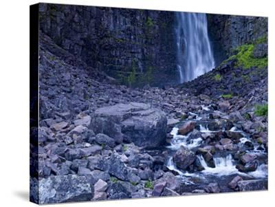 Sweden, Dalarna, Fulufjallet National Park, Waterfall Njupeskar, the Highest Waterfall in Sweden-K. Schlierbach-Stretched Canvas Print