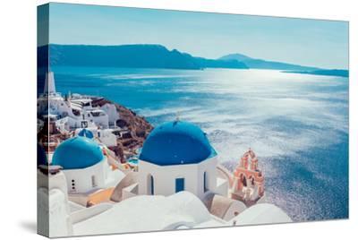 Santorini Island,Greece-anastasios71-Stretched Canvas Print