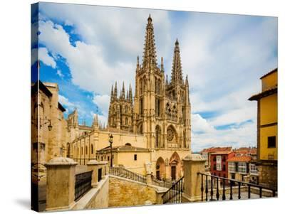 Burgos, Burgos Province, Castile y Leon, Spain. The Gothic cathedral. Construction began in the...--Stretched Canvas Print