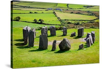 near Glandore, County Cork, Republic of Ireland. Drombeg recumbent stone circle. It is also know...--Stretched Canvas Print