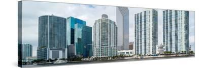 Skyscrapers at the waterfront, Brickell, Miami, Florida, USA--Stretched Canvas Print