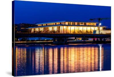 WASHINGTON D.C. -Kennedy Center Performing Arts with reflection on Potomac River - Washington D.C.--Stretched Canvas Print