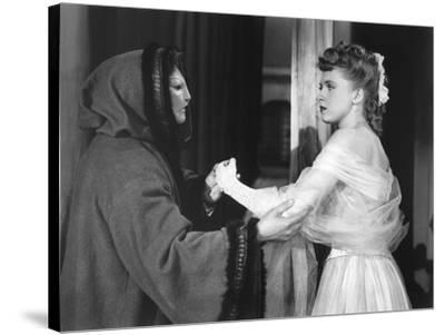 Le Fantome by l'Opera THE PHANTOM OF THE OPERA by Arthur Lubin with Claude Rains and Susanna Foster--Stretched Canvas Print