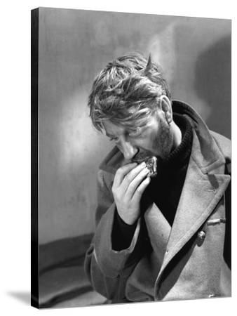 La grande Illusion by JeanRenoir with Jean Gab 1937 (b/w photo)--Stretched Canvas Print