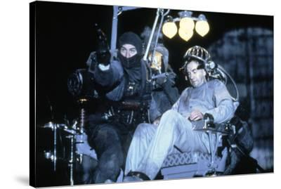 Brazil by TerryGilliam with Jonathan Pryce and Robert by Niro, 1985 (photo)--Stretched Canvas Print