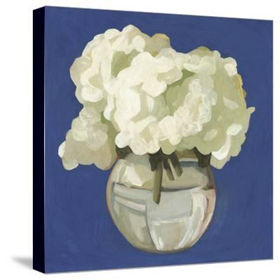 White Hydrangeas I-Emma Scarvey-Stretched Canvas Print