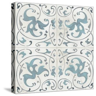 Teal Tile Collection VIII-June Vess-Stretched Canvas Print
