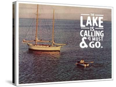 The Lake Is Calling-The Saturday Evening Post-Stretched Canvas Print