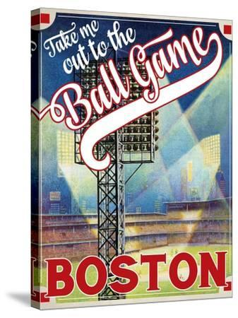 Travel Poster - Boston-The Saturday Evening Post-Stretched Canvas Print