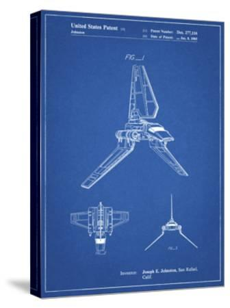 PP449-Blueprint Star Wars Lambda Class T-4a Shuttle Patent Poster-Cole Borders-Stretched Canvas Print