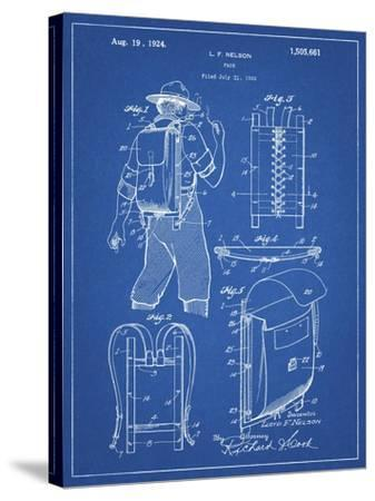 PP342-Blueprint Trapper Nelson Backpack 1924 Patent Poster-Cole Borders-Stretched Canvas Print