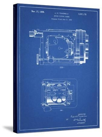 PP390-Blueprint Motion Picture Camera 1932 Patent Poster-Cole Borders-Stretched Canvas Print