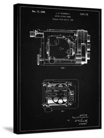 PP390-Vintage Black Motion Picture Camera 1932 Patent Poster-Cole Borders-Stretched Canvas Print