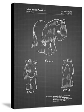 PP398-Black Grid My Little Pony Patent Poster-Cole Borders-Stretched Canvas Print