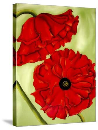 Two Poppies-Holly Carr-Stretched Canvas Print