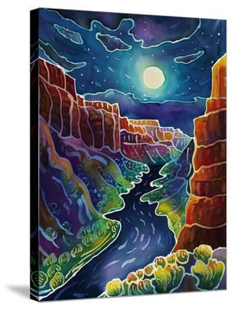Moonlit Canyon-Harriet Peck Taylor-Stretched Canvas Print