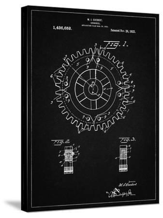 PP526-Vintage Black Cogwheel 1922 Patent Poster-Cole Borders-Stretched Canvas Print