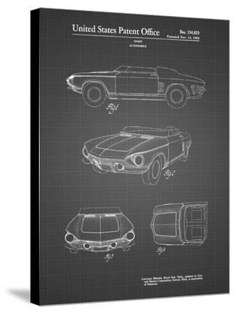 PP489-Black Grid 1962 Chevrolet Covair Super Spyder Concept Patent Print-Cole Borders-Stretched Canvas Print
