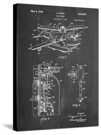 PP500-Chalkboard Early Helicopter Patent Poster-Cole Borders-Stretched Canvas Print