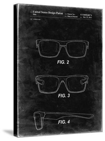 PP640-Black Grunge Two Face Prizm Oakley Sunglasses Patent Poster-Cole Borders-Stretched Canvas Print