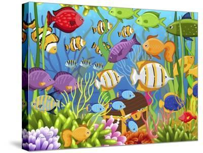 Colorful Sea Life-Jean Plout-Stretched Canvas Print
