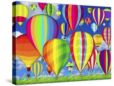 Hot Air Balloons-Jean Plout-Stretched Canvas Print