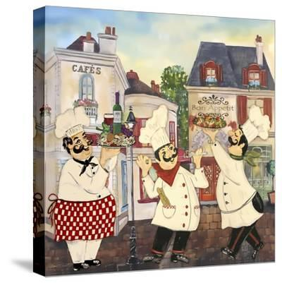 JP3042-Italian Chefs-Jean Plout-Stretched Canvas Print