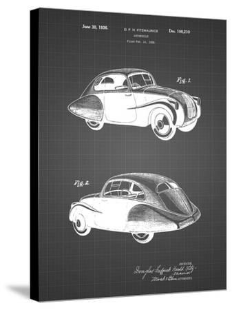 PP697-Black Grid 1936 Tatra Concept Patent Poster-Cole Borders-Stretched Canvas Print