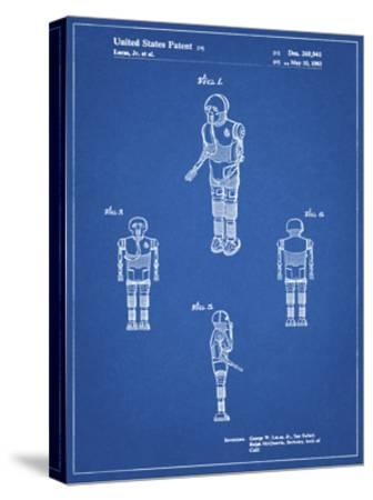 PP691-Blueprint Star Wars Medical Droid Patent Poster-Cole Borders-Stretched Canvas Print