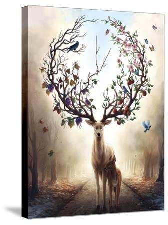 Seasons-JoJoesArt-Stretched Canvas Print