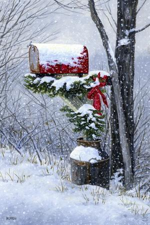 Holiday Delivery-John Morrow-Stretched Canvas Print