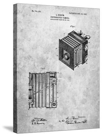 PP753-Slate Borsum Camera Co Reflex Camera Patent Poster-Cole Borders-Stretched Canvas Print