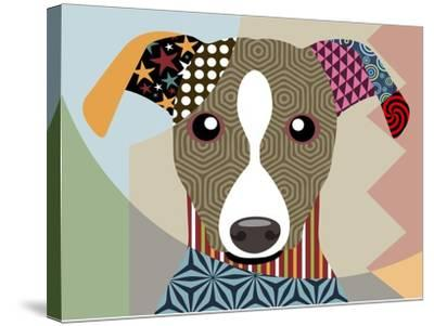 Whippet-Lanre Adefioye-Stretched Canvas Print