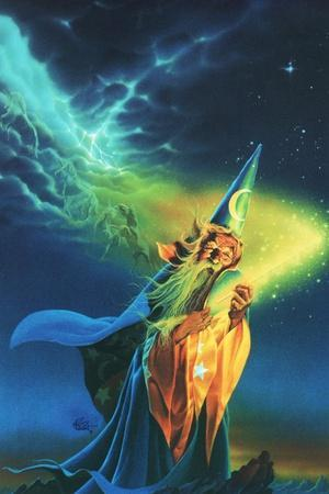 The Wizard-Kirk Reinert-Stretched Canvas Print