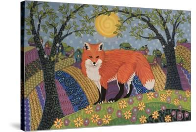 Snowy Spring Fox-K.C. Grapes-Stretched Canvas Print